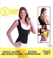 Wholesale Nylon Weight Loss Belt - 200Pcs High Quality Cami Hot Women's Hot Shapers Shirt S-2XL Weight Loss Cincher Slimming Belts Tummy Trimmer Hot