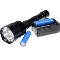 Wholesale Trustfire 3x Dive - Super Bright 3XT6 3800Lm 3x T6 LED Flashlight Bike Head Lamp Light 5 Modes U2 Tactical Torch For Outdoor