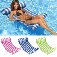 Wholesale Inflatable Floating Mat - 3 Colors 70*132cm Summer Inflatable Chair Float Swimming Floating Bed Water Hammock Recreation Beach Mat Mattress Lounge Chair CCA6540 10pcs