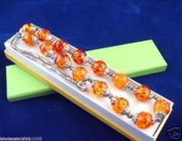 янтарные наборы свадебных украшений оптовых-Набор племенных ювелирных изделий довольно искусственные янтарные бусы ожерелье / серьги
