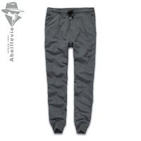 Wholesale Plus Tall - Wholesale-Abeillevie New Fashion Cotton Long Men's Pants Solid French Terry Casual Pants Men Big & Tall Plus Size Joggers SweatPants 8611
