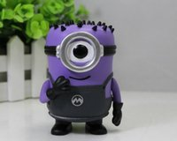 Wholesale Minions Gift Box - Hot sale anime figure pvc toys Q ver POP Despicable Me Minions purple carl Minions Hula Minions boxed 10CM gift for children