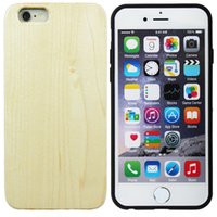 Wholesale Crafts Wholesale For Phone Cases - Latest wooden wood craft phone case for iphone 6 7 plus case smartphone cover smart gadget Natural Maple Wood + TPU Back Cover Case