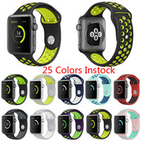 Wholesale Silicone Rubber Sports Watch - Factory Supply Hotsale Rubber Strap Watchband Brand watchband with 38mm 42mm Silicone Wristband with Watch Sport Edition holes