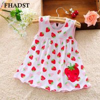 Wholesale Cute Baby Girl Dress Cotton Regular Dot Sleeveless A Line Dresses Floral Appliques Casual Kid Clothing Princess Months