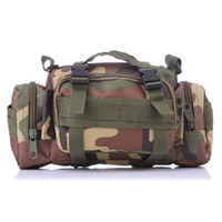 Wholesale Black Water Gear - Camouflage Army Multi-function 3P Sports Backpacks Climbing Outdoor Adventure Tactical Gear Water Resistance Camo black Waist Bag 10 Colors