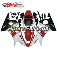 Wholesale Yamaha R6 Body Kit White - Fairings For Yamaha YZF600 YZF-R6 R6 03 04 Year 2003 2004 Plastic ABS Motorcycle Fairing Kit Bodywork Fairings Red White Body Frames Cowling