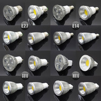 Wholesale Spot 12v Led 6w Mr16 - E27 E14 GU10 MR16 LED COB Spotlight Dimmable 6w 9w 12w 15w Spot Light Bulb high power lamp AC DC 12V or 85-265V