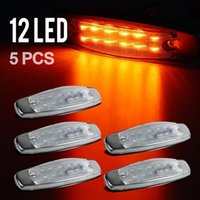 Wholesale 5pcs Side Marker Light LED Panel Under Cab For Peterbilt Amber Clear Lens Trailer Lights
