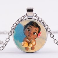 Wholesale Multi Gem - Multi style cartoon movie time gem Pendant Necklaces 4colors Moana sweater chain Jewelry gifts for adult and kids