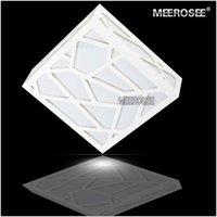Wholesale Ceiling Lights Cube - Modern Creative LED Ceiling Light White Ceiling Lights Polymer Wood Carving Water Cube Square Flush Mounted Lamp Hallway Porch Light