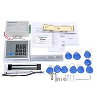 kit de controle de acesso à porta venda por atacado-Home Security Sistema de Controle de Acesso RFID Kit Set 180Kg Elétrica Fechadura Magnética Interruptor Da Porta de Alimentação com 10 pcs ID Chave Berloques