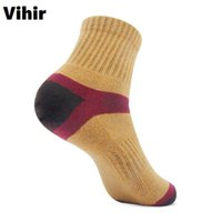 Wholesale Anti Friction Socks - Vihir Mens Anti-friction Cotton Compression Ankle Socks Spring Traveling Outdoor Cycling Sports Jogging Socks for Men
