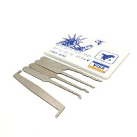 Usine directe Ensemble d'outils de sélection de verrouillage de poche James Bond (5 pcs) Durable Ultra petit facile à porter Jtron 5PCS Set Card Type
