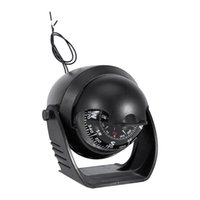 Wholesale electronic boats resale online - Macromolecule Plastic LED Light Digital Compass Magnetic Sphere Marine Military Electronic Boat For Marine Boat Car