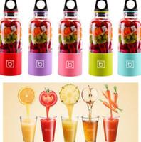 Wholesale automatic juicers - 500ml Portable Bingo Mixer Bottle Cup Automatic Mini Juicer Blender Coffee Shaker USB Automatic Vegetable Fruit Bottle Blender KKA1894