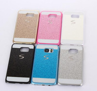 Wholesale S3 Cover Cute - Colorful Glitter Case Ultra Thin Cute Cover Shiny Hard Back For Samsung Galaxy S3 4 5 6 6 Edge  With OPP Package