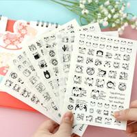ingrosso foto carine coreane-Wholesale- 6 PCS / Pack Corea Cute Panda Cat Pvc Sticker / Sticker decorativo foto istantanea / Cancelleria coreana spedizione gratuita
