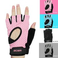 Guanti da palestra traspiranti per le donne / uomini Body Building Training Sport Dumbbell Fitness Exercise Weight Lifting Gloves SC071