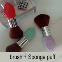 Wholesale Purpose Design - sponge powder puff brush 2017 new two in one Drops of water design Multi puff Dry and wet dual purpose welcome OEM order
