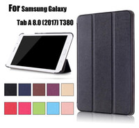 Wholesale Book Galaxy Tab - Business Flip book Leather case smart cover for NEW iPad Pro 9.7 Air Samsung Galaxy Tab A 8.0 (2017) T380