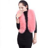 ingrosso giacche in pelliccia rosa-Donne Faux Fur Coat Gilet Lady Short Fake Fur Clothes High Copia Fox Rabbit Gilet Rosa Fur Senza maniche Cappotti Donna Vestiti nuovi