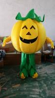 gemüse maskottchen kostüm großhandel-Gemüse Kürbis Cartoon Puppen Maskottchen Kostüme Requisiten Kostüme Halloween versandkostenfrei