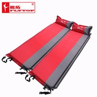 Wholesale Foam Sleep Mat - 2016 Hot sale (170+25)*65*5cm single person automatic inflatable mattress outdoor camping fishing beach mat on sale  wholesale
