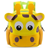 Wholesale Colorful Canvas Backpacks - Fashion Children Colorful Cartoon Animal Design Waterproof Durable School Bag for Children