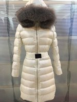 Wholesale Ladies Parkas Fur Hood - M396 Mon Brand Jacket women winter Jacket Good Quality Ladies anorak women coats with real thick fox fur hood parka women jackets