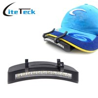 arriba abajo luces escalera al por mayor-11 LED Clip-On Caplight Lámpara de luz blanca Ciclismo Senderismo Camping Cap Light Night Fishing Repair Car Caplights al aire libre