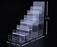 Wholesale acrylic wallet stand for sale - Group buy Boutique store Seven layer Acrylic Wallet Display Stand Purse Holder high quality Nail polish cosmetics jewelry shelf phone display rack