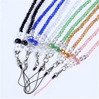 Universal Phone Neck Strap Chain Luxury Sling Lanyard Crystal Rhinestone Bracelet Suspendre Portable CellPhone Rope Pour smartphone ID Card MP3