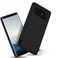 Wholesale Galaxy Note Charger Case - 6500MAH high capacity phone charger case for galaxy note 8 power bank charger cover for samsung galaxy note 8 black