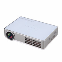Wholesale Portable Blue Ray - Wholesale-Excelvan LED9 Portable Android 4.4 DLP Projector WIFI Wireless 1280*800 Full HD 1080P Home Proyector Support Blue-ray Digital 3D
