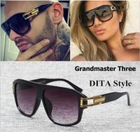 Wholesale Oculos Sol Vintage Masculino - Brand Designer 2017 D T sunglasses grandmaster three sunglasses vintage men women sunglasses hip hop style Gradient Oculos De Sol Masculino