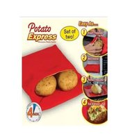 Wholesale Red Potato Bag Quick Fast Oven Microwave Baked Bags Washable Cooker Bag Baking Tools