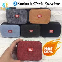 Wholesale Horn Stand For Iphone - T3 Wireless Bluetooth Portable Mini Speakers Subwoofers Music Player 5W Horn Best Cloth Net TF USB for iPhone S6 7 Samsung Table PC
