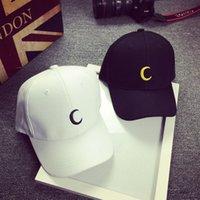 Wholesale Gorras Fashion Hombre - Moon Embroidery 2016 New Fashion Baseball Caps Women Men Cotton Black White Snapback Hats For Men Gorras Hombre,Casquette Femme