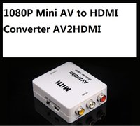 1080P Mini AV a HDMI Converter AV2HDMI RCA Señales de audio y video compuestas a señales HDMI para TV Monitor 10pcs / lot