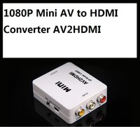 1080P Mini AV al convertitore di HDMI AV2HDMI RCA Video audio composito segnali ai segnali HDMI per monitor TV 10pcs / lot