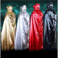 Wholesale Death Costumes - 2017 New Halloween Costumes God of Death Cloak Long Tippet Sorcerer Cape Anime Cosplay Cloak for Adult