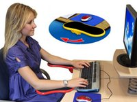 Wholesale Computer Mouse Arm Rest - Computer PC Laptop Networking Black Red Plastic Arm Bracket Rotatable Keyboards Mouse Pads Wrist Rests 1994
