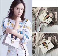 Wholesale Women Handbag Studded - 2017 famous designer bags rivet studded shoulder bag women clutch rivets bag handbag famous design