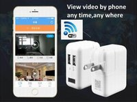 Wholesale camera monitor recorder - Wireless P WiFi P2P wall Charger security Camera Motion detection Adaptor WIFI CAM Socket DVR Recorder Home Security monitor