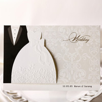 Wholesale Cheap Sale Groom Bride Dresses Wedding Invitations Weeding invitation Cards Decorations convites de casamento JJ480