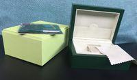 boîte de montre en cuir femmes achat en gros de-Vente en gros-luxe Montre Box Green Marque Original Boîte Papiers Cadeau Montres Boîtes Sac en cuir Pour 116610 116040 116660 116710 Montre HOMMES FEMMES