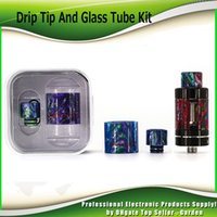 Wholesale Demon Glass - Original Demon Killer Relacement Epoxy Colorful Resin Kit Glass Tubes and Drip Tips for Smok TFV8 Baby TFV12 Ijust S Cleito 100% Authentic