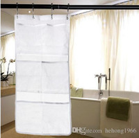 Wholesale finish bath - Bath Storage Bag Multi Function Hanging Mesh Water Proof 6 Pocket Durable Finishing Case Practical Home Tool 6 8qy J R