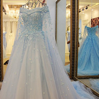 Wholesale Best Sell Wedding Dresses - New Style 2017 Vintage Long Style Wedding Dresses Lace Appliques Beaded Sequins Wedding Gowns Court Train Vintage Best Selling Bridal Dress